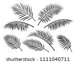 tropical set of isoated hand... | Shutterstock . vector #1111040711