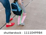 mother and daughter pupil... | Shutterstock . vector #1111049984