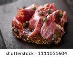 traditional spanish jamon...   Shutterstock . vector #1111051604