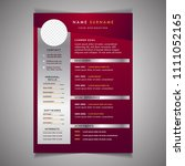 resume template can be use as... | Shutterstock .eps vector #1111052165