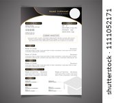 scholarships cv resume template ... | Shutterstock .eps vector #1111052171