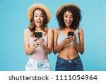 Two Multiethnic Summer Women...