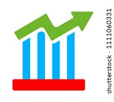 vector bar chart illustration ... | Shutterstock .eps vector #1111060331