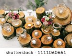 wedding rustic decoration with... | Shutterstock . vector #1111060661