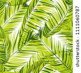 palm seamless pattern. exotic... | Shutterstock .eps vector #1111060787