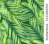 palm seamless pattern. exotic... | Shutterstock .eps vector #1111063241
