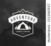forest camping logo emblem... | Shutterstock .eps vector #1111063517