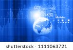 stock market graphs and charts... | Shutterstock . vector #1111063721