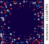 patriotic american stars... | Shutterstock .eps vector #1111067591