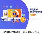 digital marketing modern flat...   Shutterstock .eps vector #1111070711