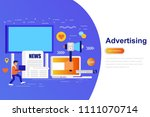 advertising and promo modern... | Shutterstock .eps vector #1111070714