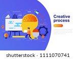 creative process modern flat... | Shutterstock .eps vector #1111070741