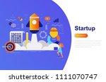 business startup modern flat... | Shutterstock .eps vector #1111070747