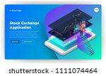 mockup landing page website... | Shutterstock .eps vector #1111074464