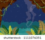 nature landscape with... | Shutterstock .eps vector #1111076351