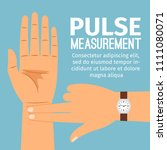 pulse measurement illustration. ... | Shutterstock . vector #1111080071