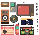 retro collection.flat design ... | Shutterstock .eps vector #1111080791