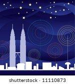 klcc landmark at night view | Shutterstock .eps vector #11110873