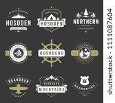 camping logos templates vector... | Shutterstock .eps vector #1111087604