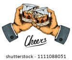 vintage american whiskey badge. ... | Shutterstock .eps vector #1111088051