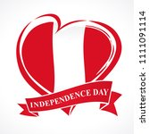 peru independence day greeting... | Shutterstock .eps vector #1111091114