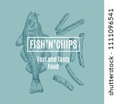 fish and chips abstract vector... | Shutterstock .eps vector #1111096541