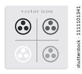 proton or neutron flat black...   Shutterstock .eps vector #1111101341