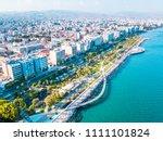 aerial view of molos promenade... | Shutterstock . vector #1111101824