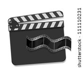vector clapboard with waving... | Shutterstock .eps vector #111110231