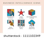 business intelligence concept... | Shutterstock .eps vector #1111102349
