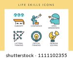 life skill concept icons for... | Shutterstock .eps vector #1111102355