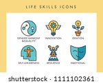 life skill concept icons for... | Shutterstock .eps vector #1111102361