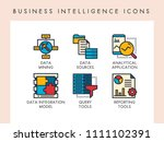 business intelligence concept... | Shutterstock .eps vector #1111102391