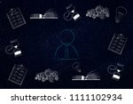 thoughts and memory conceptual... | Shutterstock . vector #1111102934