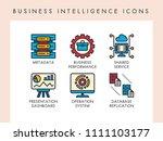 business intelligence concept... | Shutterstock .eps vector #1111103177