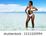 close up portrait of attractive ... | Shutterstock . vector #1111103594