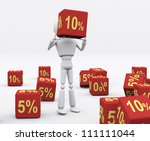 white person holding the dice... | Shutterstock . vector #111111044
