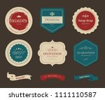 vintage element banner label... | Shutterstock .eps vector #1111110587
