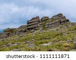 The area surrounding Belstone Tor in Dartmoor National Park, Devon, United Kingdom - stock photo