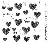 heart shaped illustration  | Shutterstock .eps vector #1111112114