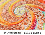 colorful mosaic flooring or... | Shutterstock . vector #1111116851