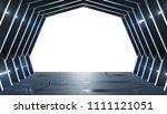 huge blueish hall spaceship...   Shutterstock . vector #1111121051