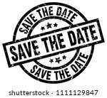 save the date round grunge... | Shutterstock .eps vector #1111129847