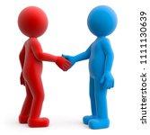 3d illustration male greeting  | Shutterstock . vector #1111130639