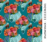 pattern of watercolor painting... | Shutterstock . vector #1111136261