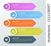 infographic template for... | Shutterstock .eps vector #1111138397