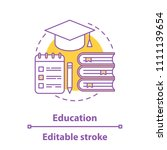 education concept icon. gaining ... | Shutterstock .eps vector #1111139654