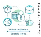 time management concept icon.... | Shutterstock .eps vector #1111139714
