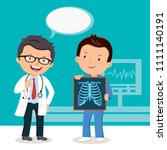 doctor and surgeon with xray... | Shutterstock .eps vector #1111140191