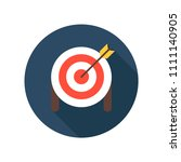 target with arrow on tripod... | Shutterstock .eps vector #1111140905